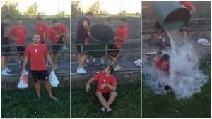 Andrej Kalina v Ice Buckett Challenge: Spoluhráči si ho vychutnali!