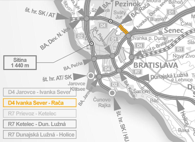 Obchvat Bratislavy D4 - R7 v úseku Ivanka pri Dunaji - Rača