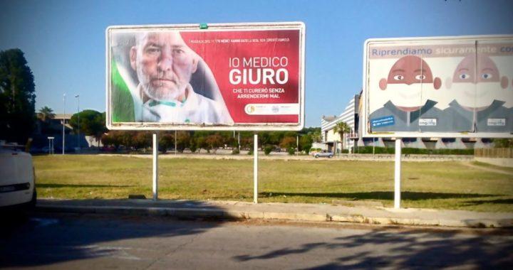 Parte a Bari affissione per la campagna Fnomceo
