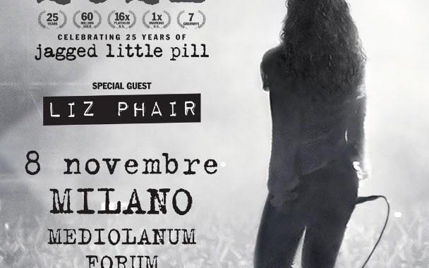 Alanis Morissette in concerto nel 2021 a Milano
