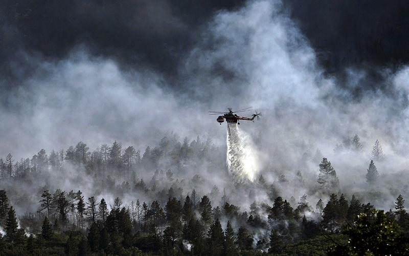 Incendio in Abruzzo