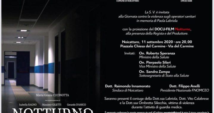 """11 Settembre 2020: """"Notturno"""", a Paola Labriola"""