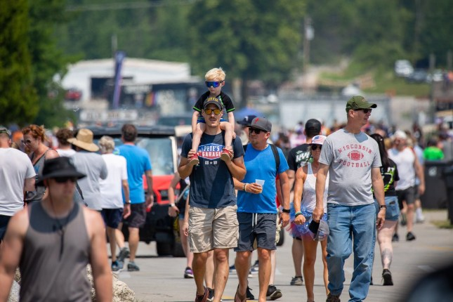 nascar race fans at Road America