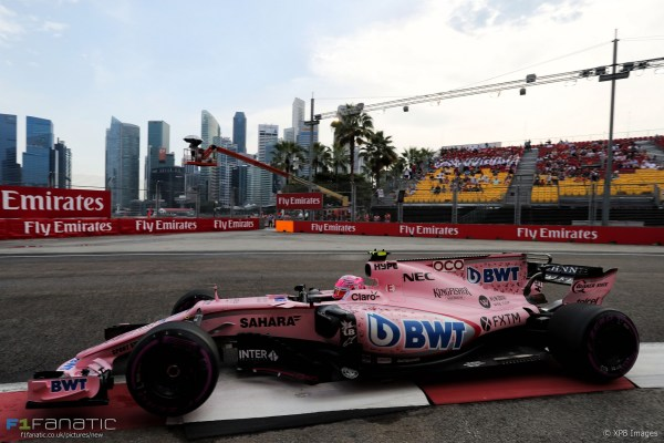 Esteban Ocon, Force India, Singapore, 2017 · RaceFans