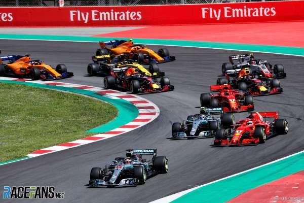 Start, Circuit de Catalunya, 2018 · RaceFans