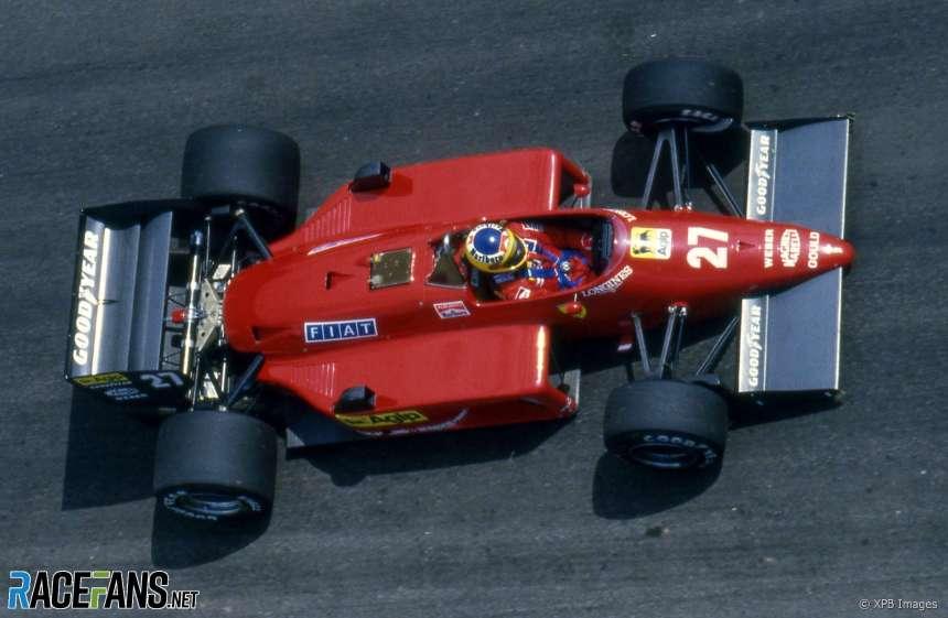 Michele Alboreto, Ferrari, Jacarepagua, 1985 · RaceFans