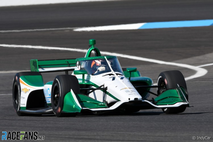 Callum Ilott questo fine settimana gareggerà per la terza volta nel campionato IndyCar all'Acura Grand Prix di Long Beach dopo aver corso anche a Portland e Laguna Seca.
