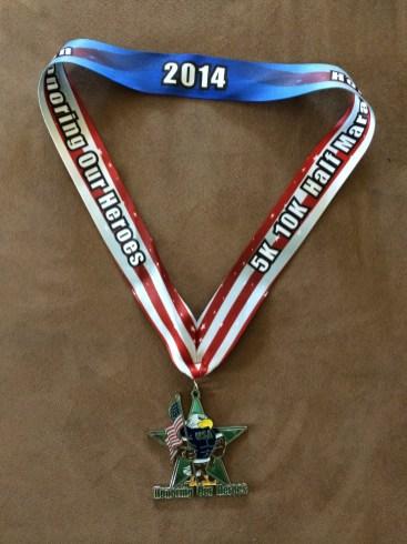 Honoring Our Heroes - race medal