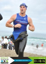 LA Tri post-swim grimace