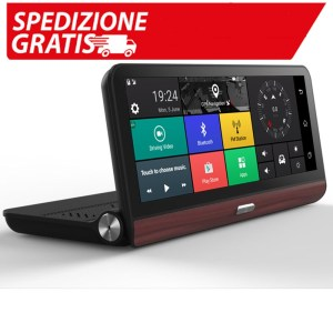 Piattaforma multimediale Android 5.0 7.84 inch 1280*400 3G / 4G HD 1080P GPS with Camera