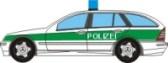 Papercraft de un Mercedes clase C combi de la policía. Manualidades a Raudales.