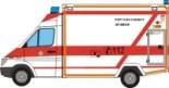 Maqueta 3D del Mercedes Benz Sprinter de los bomberos. Manualidades a Raudales.