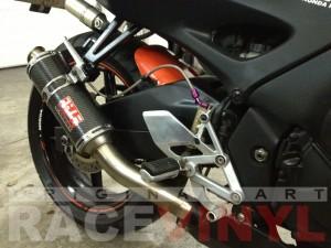CBR 600 F3 PC31 Honda Race Aitor Jimenez trasero