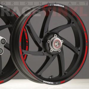 Racevinyl Llanta Race Yamaha Rojo