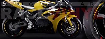 Frontal llantas Race amarillo