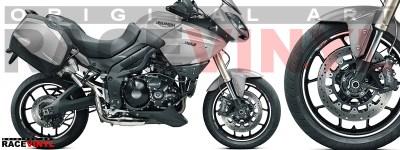 Racevinyl pegatinas llanta moto vinilo sticker rim wheel KTM Triumph Tiger 1050 blanco