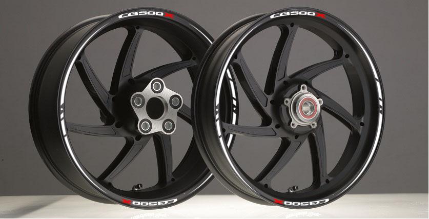 Diseño Anuncio Llantas CB500X blanco race