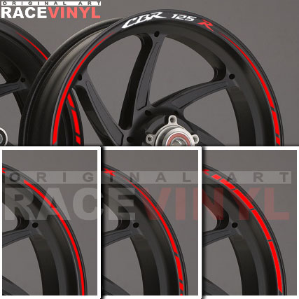 Principal anuncio Honda CBR 125R adhesivo pegatina vinilo llanta rueda moto sticker vinyl rim stripe
