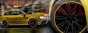 Racevinyl Audi A3 RS3 S3 Vinilo vinyl rim amarillo