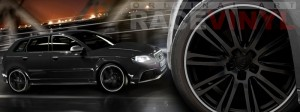 Racevinyl Audi A3 RS3 S3 Vinilo vinyl rim cromado