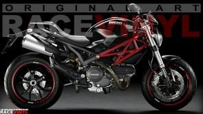 Racevinyl Ducati Monster 400 620 696 659 750 796 800 900 s2r s4r 1000 1100 s r ie evo 1200 pegatina adhesivo rueda llanta vinilo rim sticker stripe vinyl wheel 01