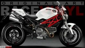 Racevinyl Ducati Monster 400 620 696 659 750 796 800 900 s2r s4r 1000 1100 s r ie evo 1200 pegatina adhesivo rueda llanta vinilo rim sticker stripe vinyl wheel 02