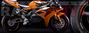 Racevinyl Honda CBR 600 RR vinyl rim wheel sticker stripe pegatina adhesivo llanta rueda vinilo naranja orange