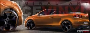 Racevinyl Volkswagen Golf GTI vinilo pegatina adhesivo Spire vinyl sticker llanta rueda naranja