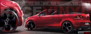 Racevinyl Volkswagen Golf GTI vinilo pegatina adhesivo Spire vinyl sticker llanta rueda rojo