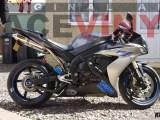 YAMAHA YZF R1 with Racevinyl Standard Blue Stripes with Yamaha Logos