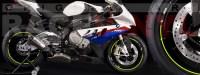 Racevinyl pegatinas llanta moto vinilo sticker rim wheel BMW S1000rr amarillo fluor