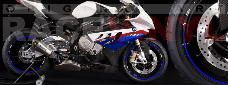 Racevinyl pegatinas llanta moto vinilo sticker rim wheel BMW S1000rr azul