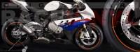 Racevinyl pegatinas llanta moto vinilo sticker rim wheel BMW S1000rr naranja