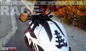 Racevinyl pegatinas llantas adhesivos vinilo rueda honda nc 700 x vinyl sticker rim wheel race rojo reflectante 01