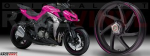 Racevinyl Kawasaki Z1000 ARROW pegatina vinilo llanta adhesivo rim sticker stripes wheel rosa