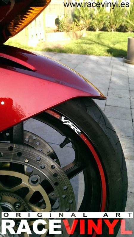 Honda VFR 2 Bart Huys 700 800 racevinyl vinilo pegatina llanta rueda moto adhesivo vinyl rim sticker adhesive wheel stripe banda moto motorcycle
