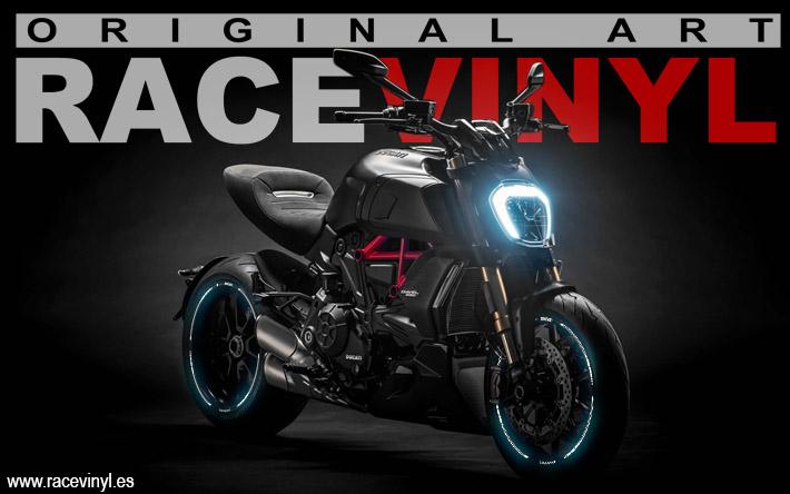 Ducati Diavel kit PRO para pegatinas para llantas adhesivos vinilos bandas moto tuning rim stickers vinyl motorcycle 02