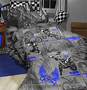 Kids Motocross Bedding Set At Raceway ATV