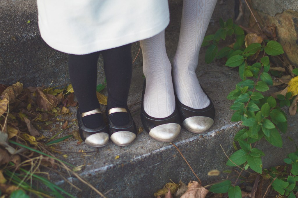 Mommy and me Nene Shoes on Rachael Burgess
