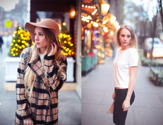 Fashion Blogger Rachael Burgess wearing ShopBop in New York