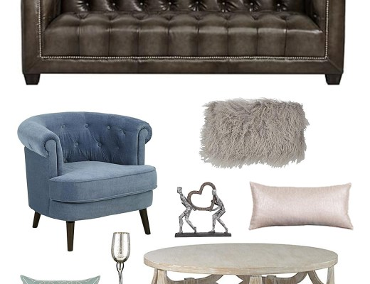 Spring Living Room Inspiration Board