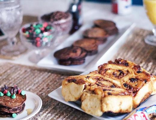 Easy Christmas Breakfast Recipe For Brownie Mix Pancakes by Rachael Burgess