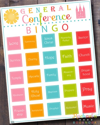 LDS General Conference Bingo Activity