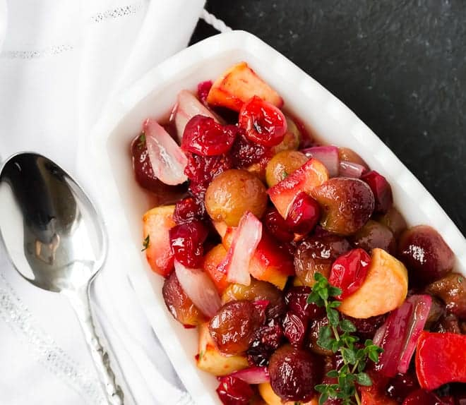 image of roasted cranberry sauce