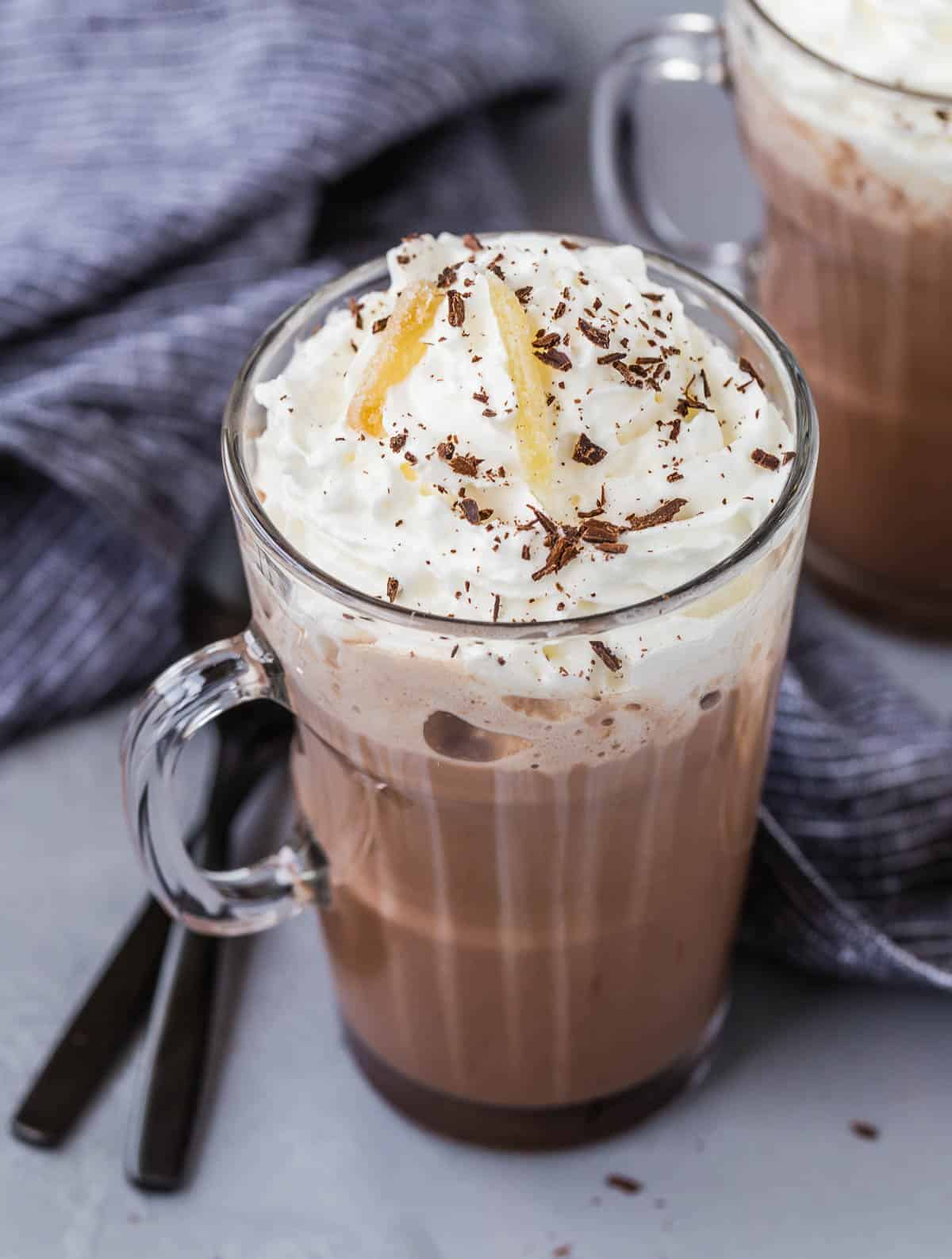 ginger spiced hot chocolate easy