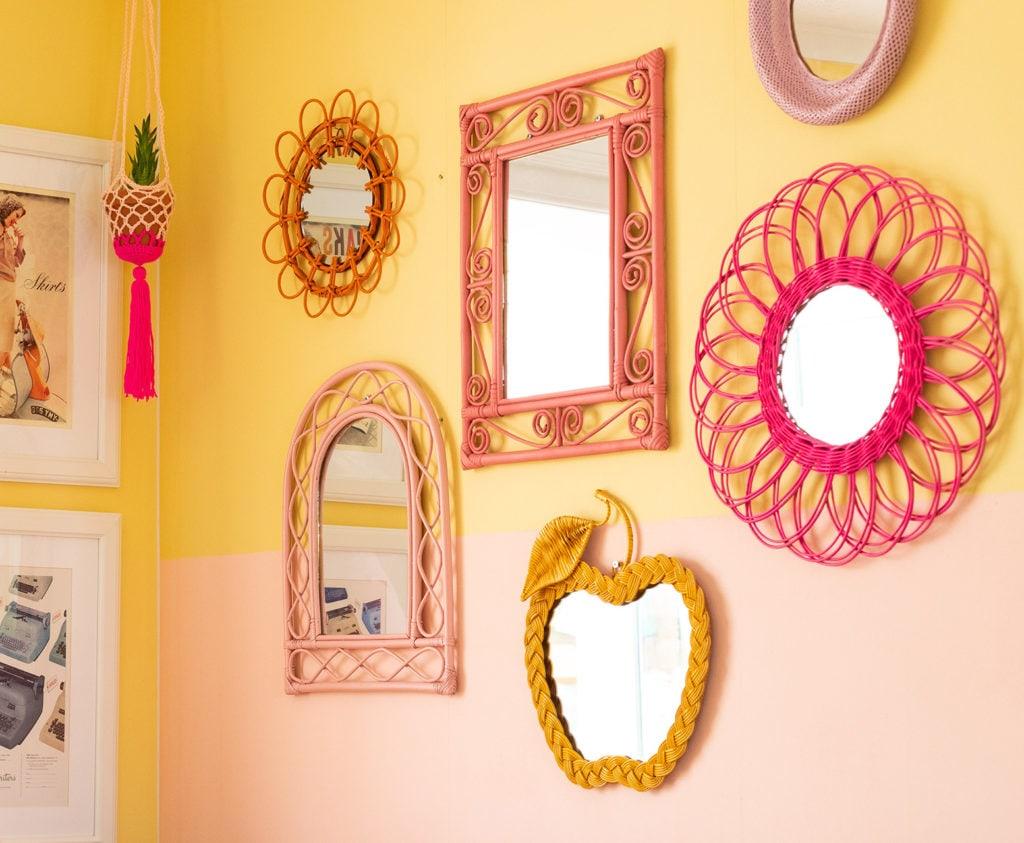 Rachel's own wicker gallery wall