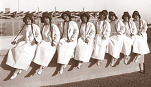 Sun-Maid raisin girls at the Panama Pacific Exposition