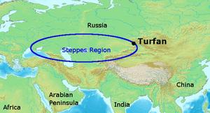 Turfan (Turpan), Xinjiang, China, on the Silk Roads.