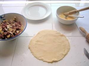 Cornish regional dish, the pasty