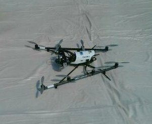 Drone equipped with cameras for analyzing wheat growth